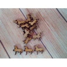 Laser cut mini unicorns 20mm Pack of 20